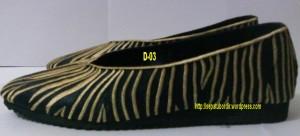 sepatu bordir dewasa motif zebra