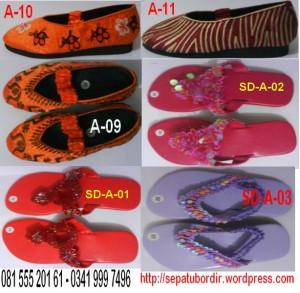 KATALOG 2 Sepatu Bordir dan Sandal Anak