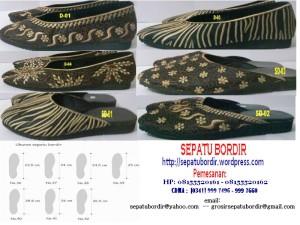 KATALOG 1 Sepatu Bordir dan Sandl Dewasa